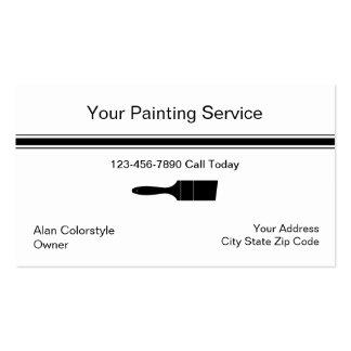 Cartão de visita simples do pintor