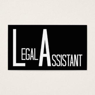 Cartão de visita simples do preto do assistente