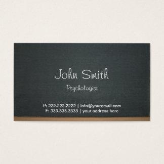 Cartão de visita simples do psicólogo do
