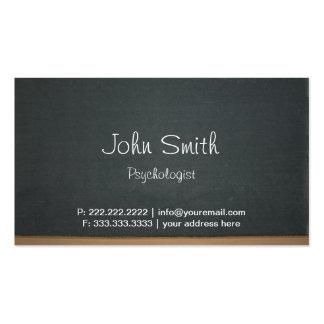 Cartão de visita simples do psicólogo do quadro-ne
