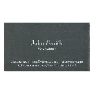 Cartão de visita simples do psiquiatra do quadro