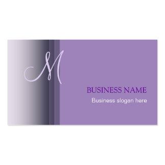 Cartão de visita simples elegante 2 do monograma