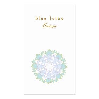 Cartão de visita simples elegante da flor de Lotus