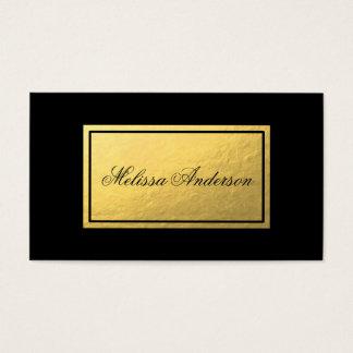 Cartão de visita simples & elegante do preto da