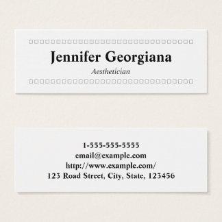 Cartão de visita simples & limpo do Aesthetician