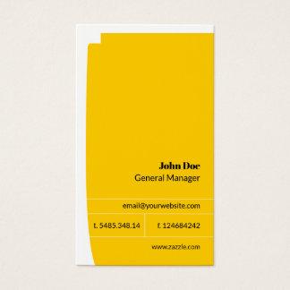 Cartão de visita simples minimalista amarelo &