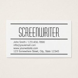 Cartão de visita simples moderno do guionista