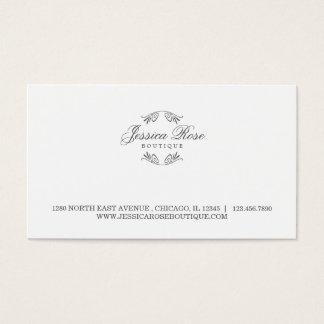 Cartão de visita simplesmente luxuoso do