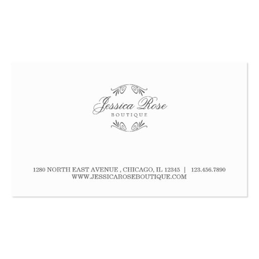 Cartão de visita simplesmente luxuoso do Boutique-