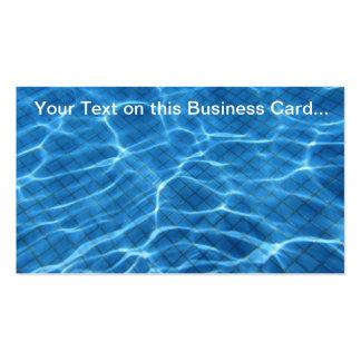 Cartão de visita Sparkling de Backgorund da piscin