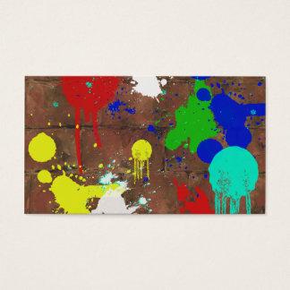Cartão de visita Splattered da pintura