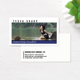 Cartão de visita sua planície feita sob encomenda