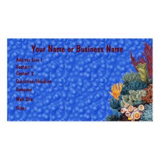 Cartão de visita subaquático do recife de corais