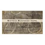 Cartão de visita sujo da bicicleta do vintage