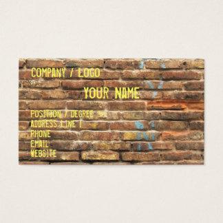 Cartão de visita sujo da parede