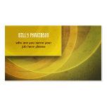 cartão de visita sujo moderno amarelo
