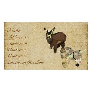Cartão de visita Tag de Cabrito