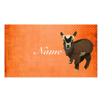 Cartão de visita Tag pequenos de Polkadot da cabra