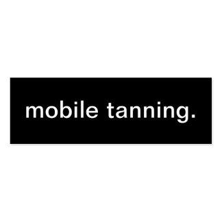 Cartão de visita Tanning móvel