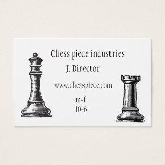 Cartão de visita temático da parte de xadrez