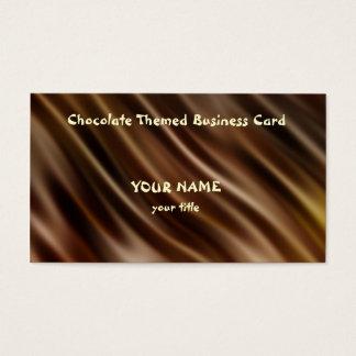 Cartão de visita temático do chocolate