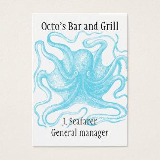 Cartão de visita temático do oceano
