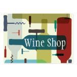 Cartão de visita temático do vinho