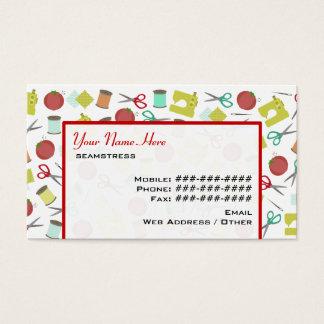 Cartão de visita temático Sewing retro