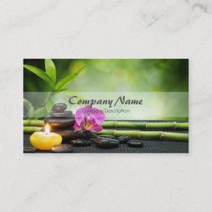 Cartão De Visita Terapia de bambu da massagem dos termas da