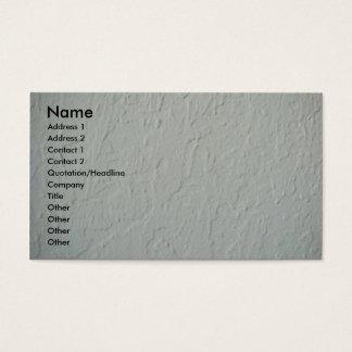 Cartão de visita Textured da parede do emplastro
