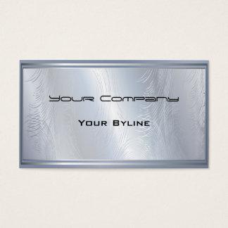 Cartão de visita Textured da prata abstrato claro