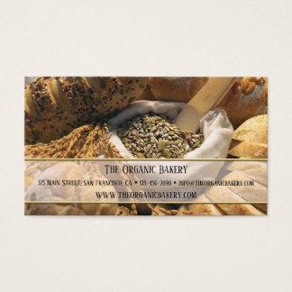 Cartão de visita tradicional da padaria do pão