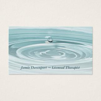 Cartão de visita tranquilo de Waterdrop