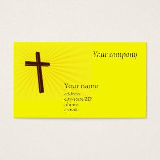 Cartão de visita transversal cristão