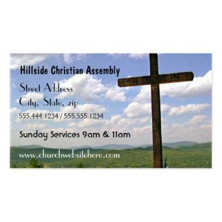 Cartão de visita transversal da igreja