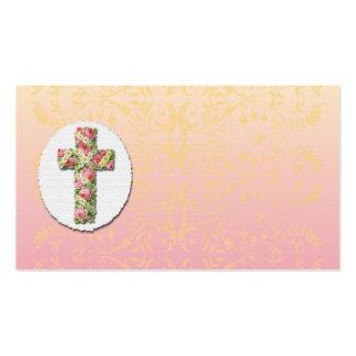Cartão de visita transversal floral do modelo do d