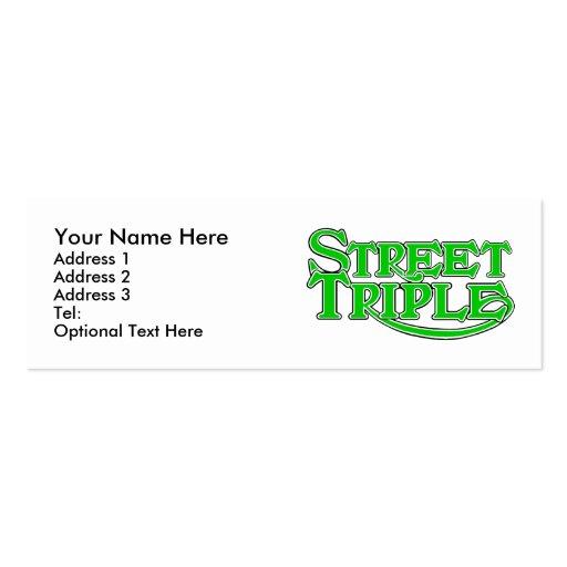 Cartão de visita triplo da rua