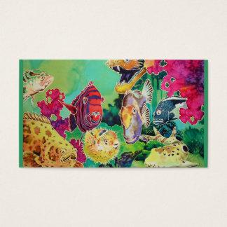 Cartão de visita tropical da cena do oceano do