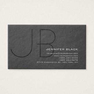 Cartão de visita Ultra-Grosso preto cinzento do
