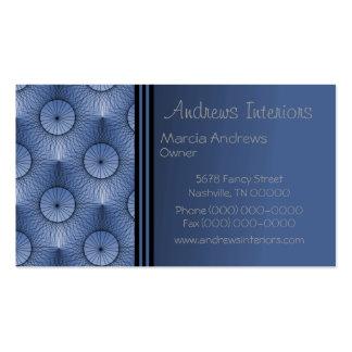 Cartão de visita Ultramodern, azul elétrico