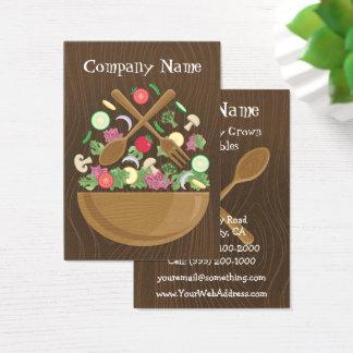 Cartão de visita vegetal retro da bacia