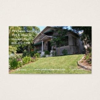 Cartão de visita velho da casa do serviço do
