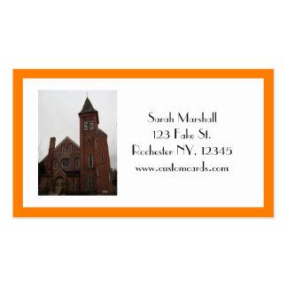 Cartão de visita velho da igreja