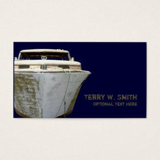 Cartão de visita velho do barco