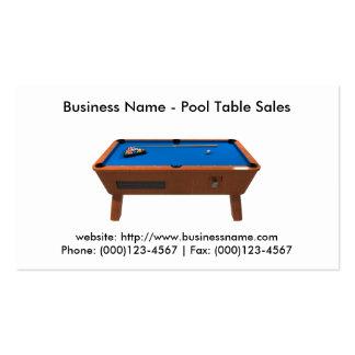 Cartão de visita: Vendas da mesa de bilhar