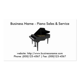 Cartão de visita: Vendas & serviço do piano