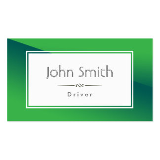 Cartão de visita verde abstrato do motorista