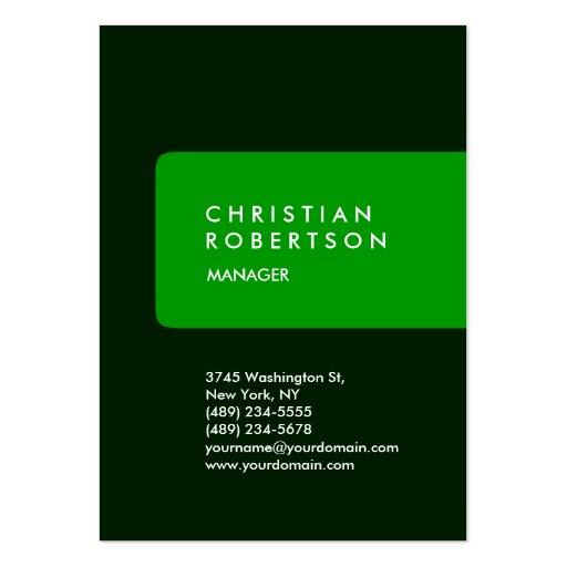 Cartão de visita verde carnudo na moda vertical