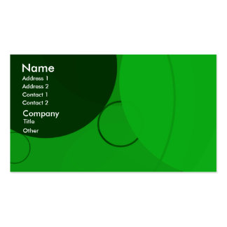 Cartão de visita verde-claro do fundo dos círculos