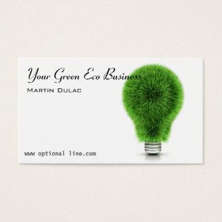 Cartão de visita verde da ampola de Eco